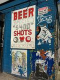 New York City Bar, NYC, NY, USA. Chelsea neighborhood bar featuring daily drink specials. This photo was taken on New York City on August 4th 2017 stock photos