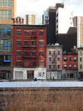 Chelsea Neighborhood in New York dall'alta linea parco Immagine Stock