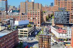 Chelsea, New York. Chelsea neighborhood of Manhattan viewed from abovew royalty free stock images