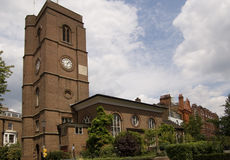 Chelsea Old Church, London. The historic Chelsea Old Church overlooking the River Thames at Cheyne Walk, London.  Dating from Medieval times, the church was Royalty Free Stock Photo