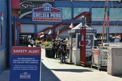 Chelsea Piers Sports & underhållningkomplexet i Manhattan Royaltyfri Bild