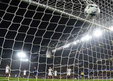 Chelsea scores a goal Stock Images
