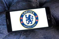 Chelsea soccer club logo Stock Photos