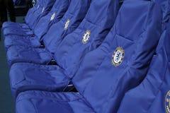 Chelsea Stamford Bridge. Chelsea home seats at the Stamford Bridge stadium for the blues Stock Photos