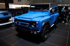 Chelsea Truck Company陆虎防御者90 'The End'编辑日内瓦2017年 库存照片