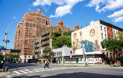 Chelsea urban art. Typical architecture, art galleries in Chelsea quarter at New York Stock Photo