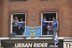 Chelsea victory parade spectators Royalty Free Stock Image