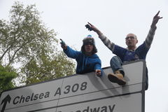 Chelsea victory parade spectators Stock Photos