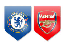 Chelsea vs arsenal Royalty Free Stock Photography