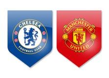 Chelsea vs man united. Prizren,Kosovo - november 19,2016: premier league teams chelsea and manchester united Stock Image