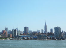 Chelsey Piers and Midtown Manhattan Panorama Royalty Free Stock Photos