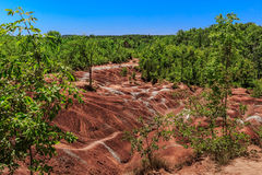Cheltenham Badlands background is a small example of badlands formation in Caledon. On. Royalty Free Stock Image