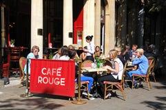 Cheltenham pavement cafe. Royalty Free Stock Photo