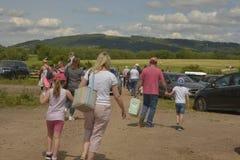 Cheltenham, Royaume-Uni - 22 juin 2019 : Les gens du behinde au festival annuel de ballon d'air chaud à Cheltenham, U k photo stock
