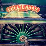 Cheltenham steam engine name plate. I upload this file exclusively on Dreamstime.com. I acknowledge and warrant that I have read and agree with the Exclusivity stock photography