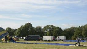 Cheltenham, United Kingdom. June 22, 2019 - Hot air Balloon Festival in England. Cheltenham, United Kingdom. June 22, 2019 - Hot air Balloon Festival inUK stock video footage