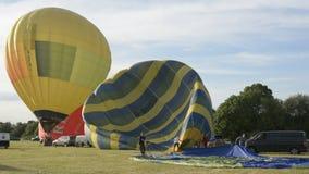 Cheltenham, United Kingdom. June 22, 2019 - Hot air Balloon Festival in England. Cheltenham, United Kingdom. June 22, 2019 - Hot air Balloon Festival inUK stock footage