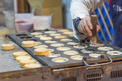 Chelun bing at a night market Stock Image
