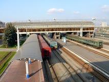 chelyabinsk järnvägstation Royaltyfri Bild