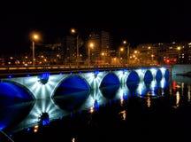 Chelyabinsk night lighting Royalty Free Stock Photography