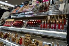 Chelyabinsk Region, Russia - August 2019: Women Cosmetic Products For Sale In Beauty Shop