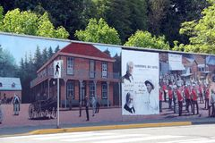 Chemainus BC Wall murals, assorted themes Stock Photo