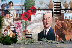 CHEMAINUS, VANCOUVER ISLAND/CANADA - AUGUST 13, 2007 : Mural in stock photography