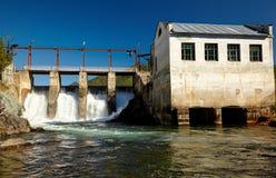Chemal水力发电厂 图库摄影