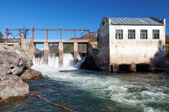 Chemal水力发电厂 免版税库存照片