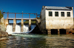 Chemal hydroelectric power plant Stock Photography