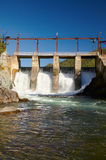 Chemal hydroelectric power plant Royalty Free Stock Images