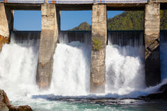 Chemal hydroelectric power plant Stock Photo