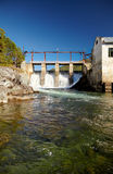 Chemal hydroelectric power plant Royalty Free Stock Photo