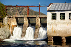 Chemal hydroelectric power plant Royalty Free Stock Photos