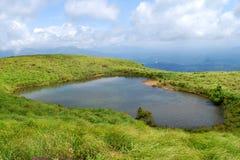 Chembra峰顶湖 图库摄影