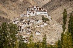 Chemdey gompa,佛教徒修道院在拉达克 库存照片
