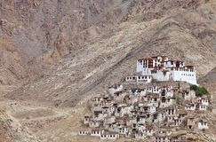 Chemdey gompa (Buddhist monastery) in Ladakh Royalty Free Stock Images