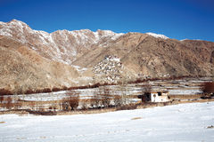 Chemdey Monastery in winter. Leh-Ladakh, Jammu and Kahsmir, Stock Image