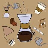 Chemex coffee makers stuff set Stock Photography