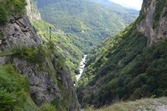 Chemgensky峡谷卡巴尔达-巴尔卡里亚高加索 免版税库存照片