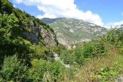 chemgensky kloof Kabardino-Balkarië de Kaukasus Stock Afbeelding