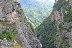 Chemgenskykloof Kabardino-Balkarië de Kaukasus Stock Foto's