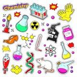 Chemia Dekoracyjni elementy dla Scrapbook, majchery, łaty, odznaki royalty ilustracja