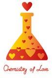 Chemia miłość Obraz Royalty Free
