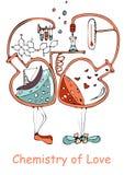 Chemia miłość wektoru ilustracja Zdjęcia Stock