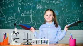 Chemical analys T?m m?tningscylindern/buretten med graderade markeringar Skolalaboratorium F?r studentuppf?rande f?r flicka smart royaltyfria bilder