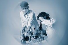 chemical arbete Royaltyfria Bilder
