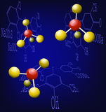Chemical background Stock Photography