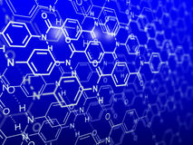 Chemical background. Abstract 3D image Royalty Free Stock Image