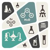 Chemical background. Royalty Free Stock Photos